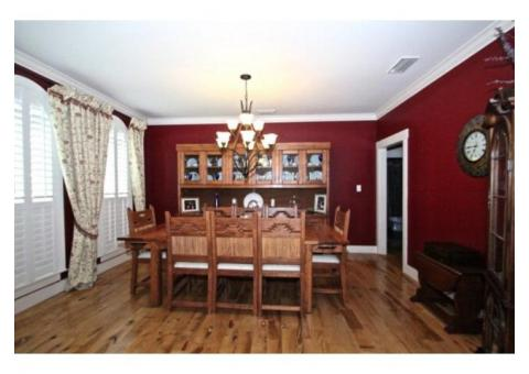 Custom Dining Table And China Cabinet