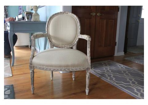 French Country / Vintage Set {Pair of Love Seats & Chair} - Newly Upholstered - All in Excellent